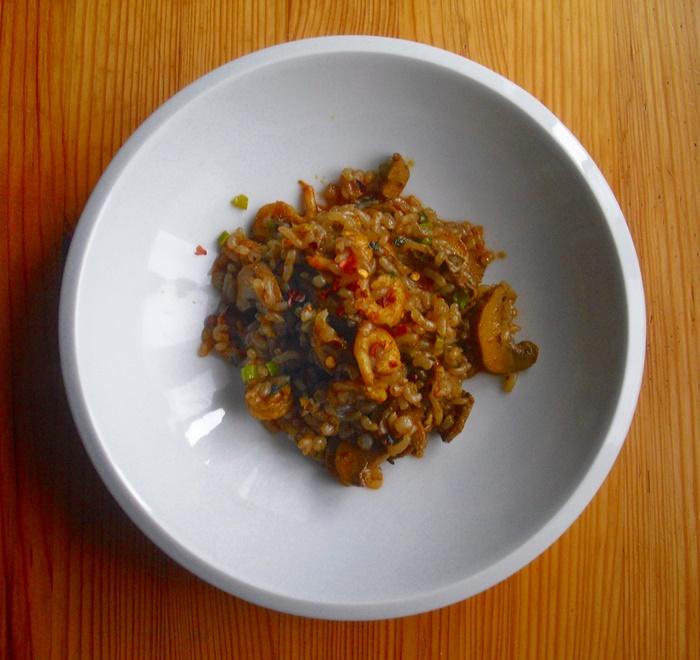 Pikantní shirataki rizoto