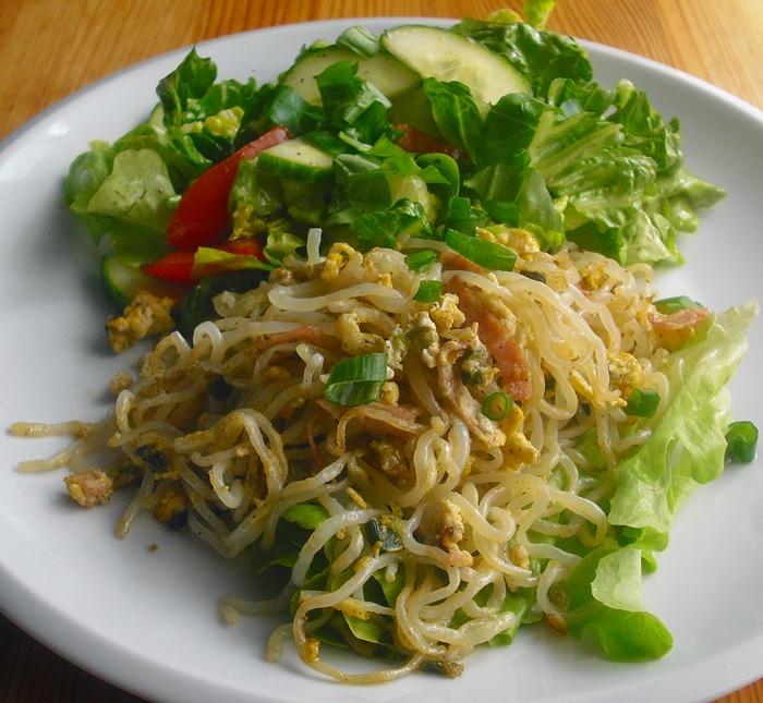 Shirataki těstoviny po uhlířsku