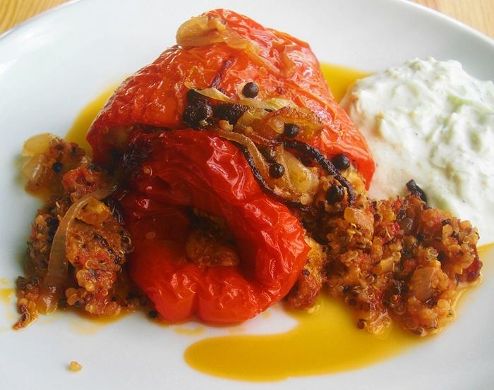 Pečené papriky s quinoou